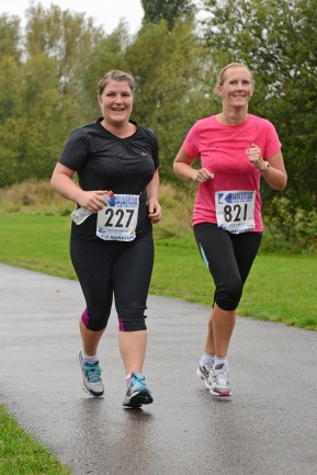 Rhoda and me at my first Half marathon 4 months after first stepping out of thedoor